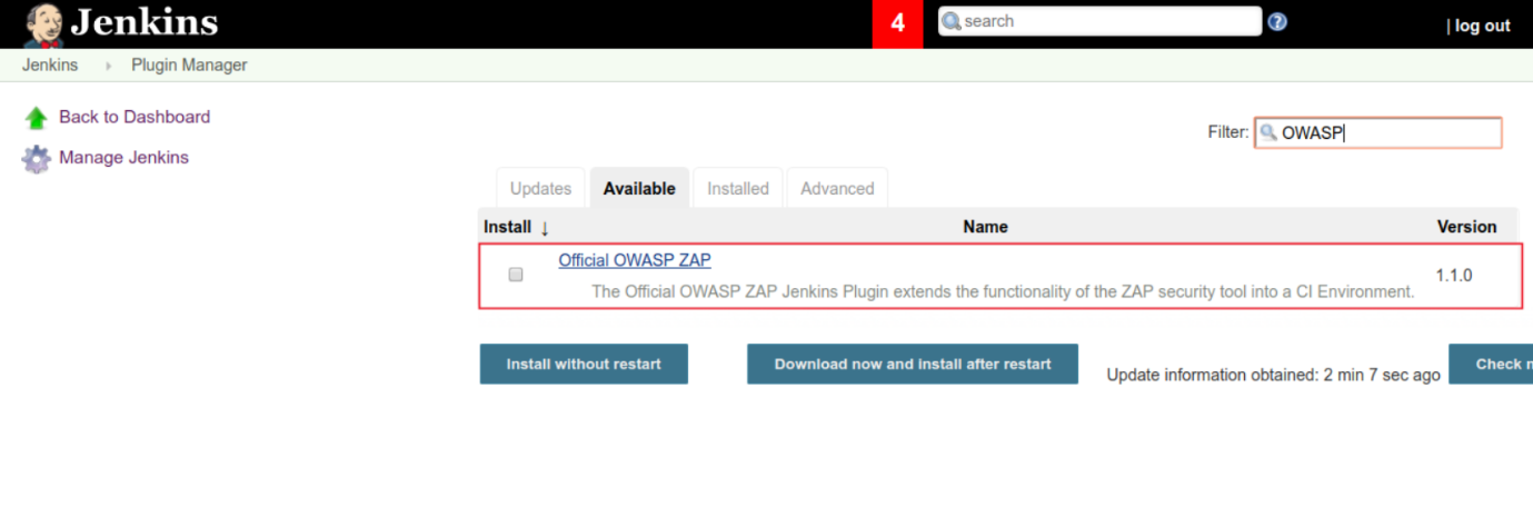 Official OWASP ZAP plugin